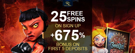 25 Free Spins on Sign Up + 675 % Bonus at Rich Casino