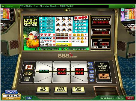Wild Spider Slot - Read a Review of this 888 Casino Game