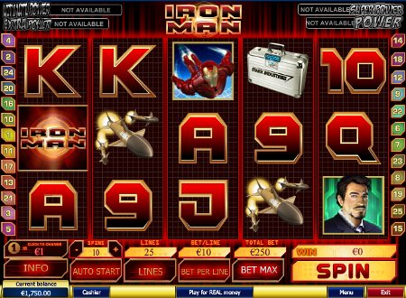 Slot machine iron man