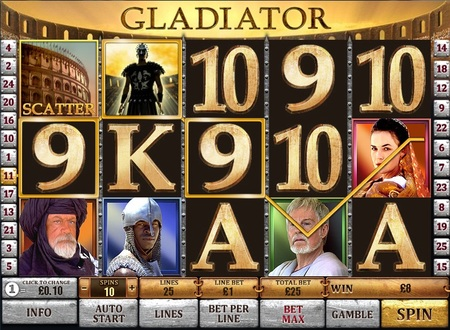 Gladiator slot machine review poker facebook signification