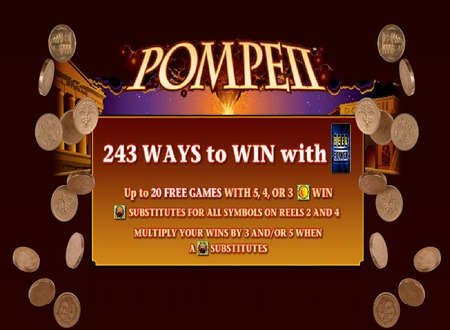 The Pompeii Slot Machine Is Available At Casino Room