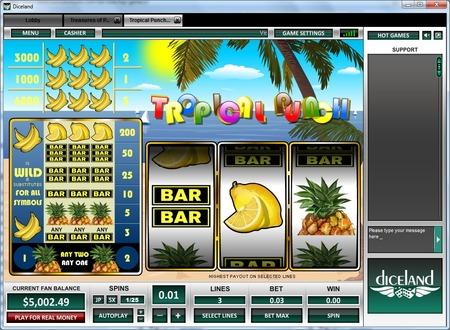 Hawaiian sunset slot machine